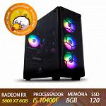Computador Gamer Patoloco Insane Intel I5 10400F, RX 5600 XT 6GB, DDR4 8GB, SSD 120