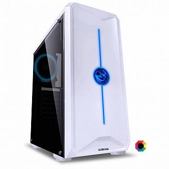 Gabinete Gamer PCYes Nova Branco com 1 Fan Led 7 Cores, Lateral em Acrílico - NOVBC7C1FCA