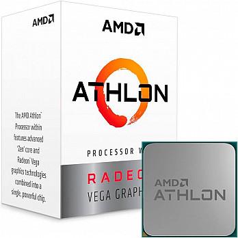 Processador AMD Athlon 200GE, Cache 5MB, 3.2GHz, AM4 - YD200GC6FBBOX