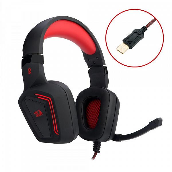 Headset Gamer Redragon Muses USB 7.1 - H310