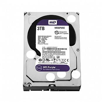 HD WD SATA 3,5´ Purple Surveillance 3TB IntelliPower 64MB Cache SATA 6.0Gb-s - WD30PURZ
