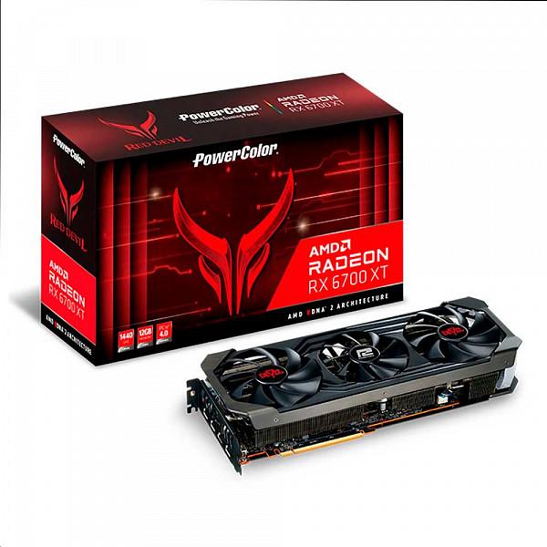Placa de Vídeo Powercolor Radeon RX 6700 XT Red Devil 12GB 192bit GDDR6 - AXRX 6700XT 12GBD6-3DHE / OC