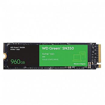 SSD WD Green PC SN350 960GB, PCIe, NVMe, Leitura: 2400MB/s, Escrita: 1900MB/s - WDS960G2G0C