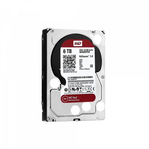HD WD SATA 3,5´ RED NAS 6TB 5400RPM 64MB Cache SATA 6.0Gb-s - WD60EFRX