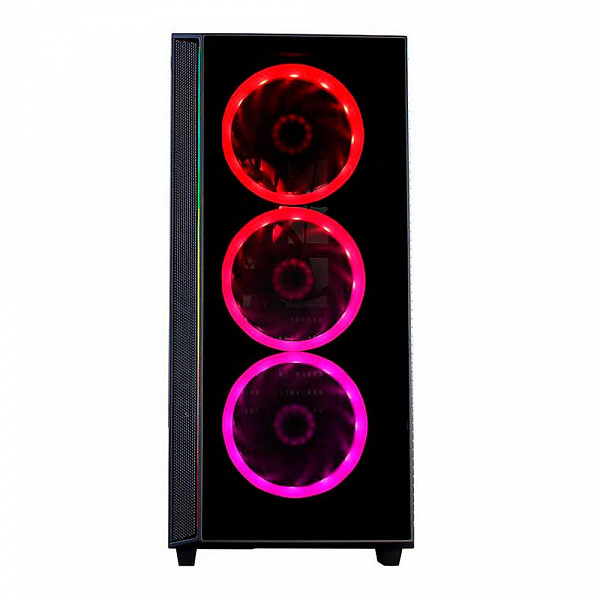 Gabinete Gamer Redragon Grapple, Mid Tower, Sem Fan, Vidro Temperado, Black, Sem fonte, GC-607-BK