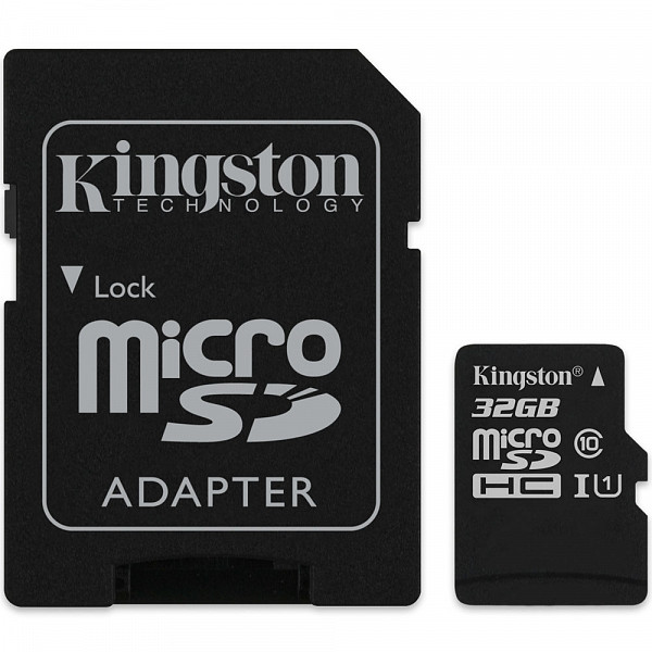 Cartão de Memória MicroSD Kingston 32GB Classe 10 com Adaptador - SDCS32GB