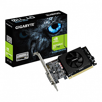 Placa de Vídeo Gigabyte Nvidia GeForce GT 710 2GB, GDDR5 - GV-N710D5-2GL