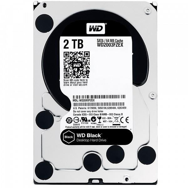 HD WD SATA 3,5´ Black Performance 2TB 7200RPM 64MB Cache SATA 6.0Gb-s - WD2003FZEX