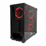 Gabinete Gamer Redragon Wheel Jack Vidro Temperado Black Gc-606bk