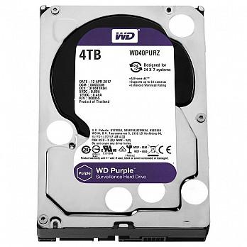 HD WD Purple Surveillance, 4TB, 3.5´, SATA - WD40PURZ