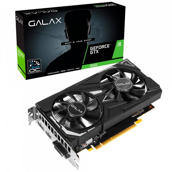 Placa de Vídeo Galax GeForce GTX 1650 EX (1-Click OC), 4GB GDDR6, 128Bit, 65SQL8DS66E6
