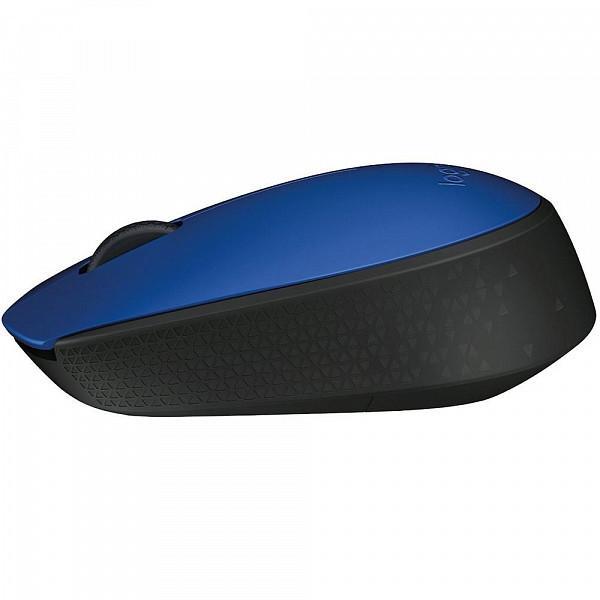 Mouse Logitech M170 Sem Fio Azul e Preto - 910-004800