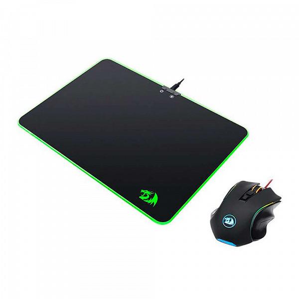 Kit Mouse e Mousepad Redragon 352x252x3mm, M602A-BA
