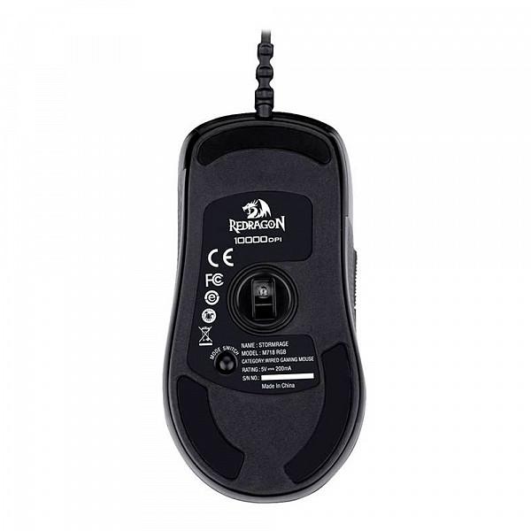 Mouse Gamer Redragon Stormrage RGB 10000Dpi, M718 RGB