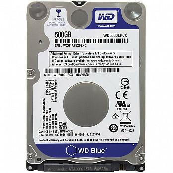 HD WD SATA 2,5´ p Notebook Blue 7mm 500GB 5400RPM 16MB Cache SATA 6.0Gb-s - WD5000LPCX
