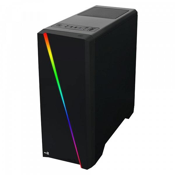 Gabinete Aerocool Cylon RGB LED MID Tower ATX Preto