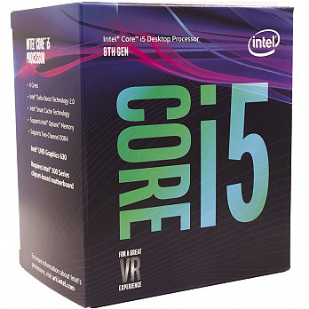 Processador intel i5-8500 Coffee Lake 8a Geração Cache 9MB, 3GHz (4.1GHz Max Turbo), LGA 1151 Intel UHD Graphics 630 - BX80684I58500