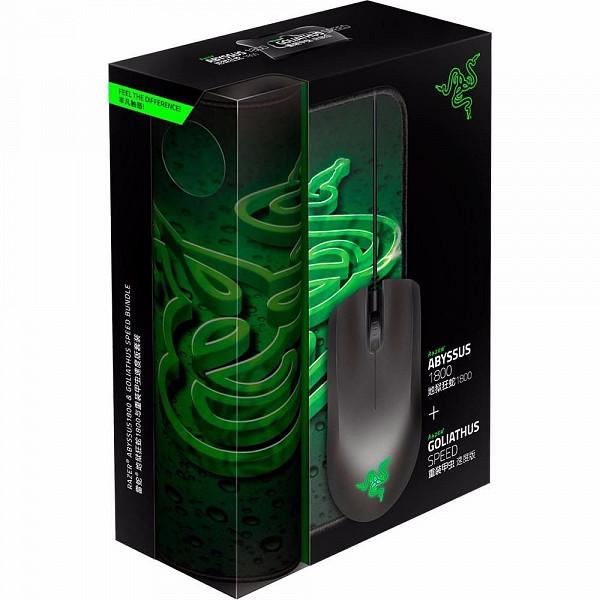 Combo Gamer Razer Mouse  Abyssus Sensor 3G e Mousepad Goliathus Small Speed - RZ84-00360200-B3