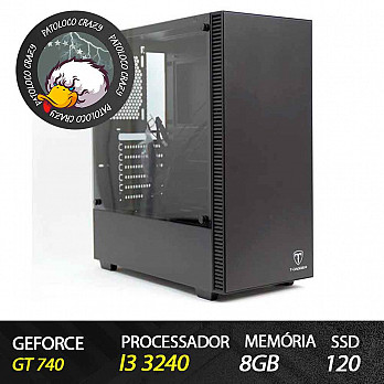 Computador Gamer Patoloco Crazy (Moba) Intel Core i3 3240, GT 740, 8GB DDR3, SSD 120