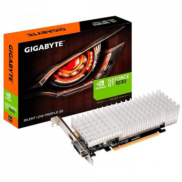 Placa de Vídeo Gigabyte NVIDIA GeForce GT 1030 2G, GDDR5 - GV-N1030SL-2GL