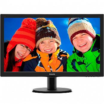 Monitor Philips LCD Tela de 23.6´ Full HD, 8ms, VGA-DVI-HDMI - 243V5QHABA