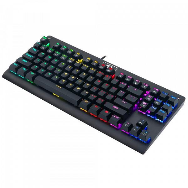 Teclado Mecânico Gamer Redragon Dark Avenger, RGB, Switch Outemu Brown, ABNT2 - K568RGB-1