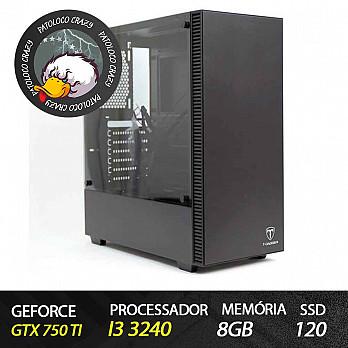 Computador Gamer Patoloco Crazy (Moba) Intel Core i3 3240, GTX 750Ti, 8GB DDR3, SSD 120