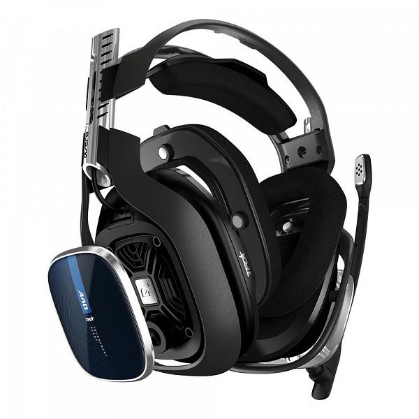 Headset ASTRO Gaming A40 TR para PS5, PS4, Xbox Series, Xbox One, PC e Mac - Preto/Azul - 939-001788