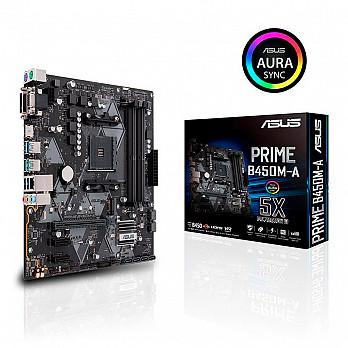 Placa Mãe Asus Prime B450M-A Am4 90MB0YR0-MOEAY0