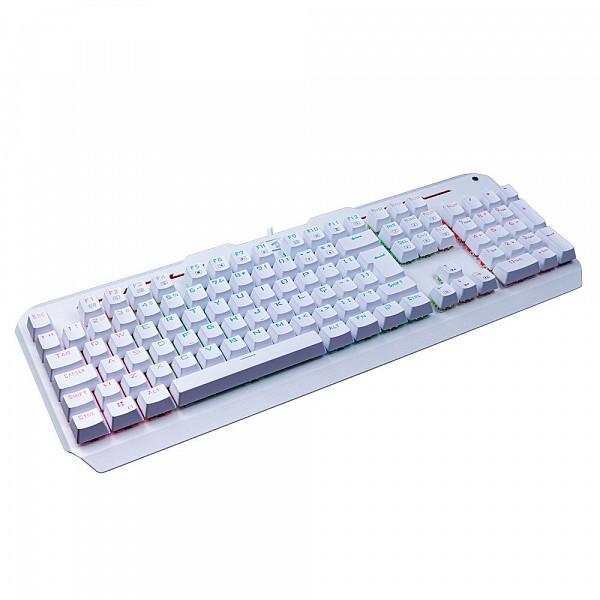 Teclado Mecânico Gamer Redragon Varuna Lunar K559W RGB, Switch Azul, ABNT2, White