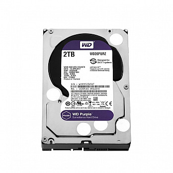HD WD SATA 3,5´ Purple Surveillance 2TB IntelliPower 64MB Cache SATA 6.0Gb-s - WD20PURZ