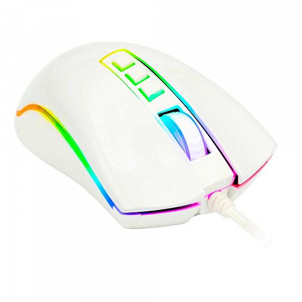 Mouse Gamer Redragon Cobra M711 RGB, 10000 DPI, 7 Botões Programáveis, White
