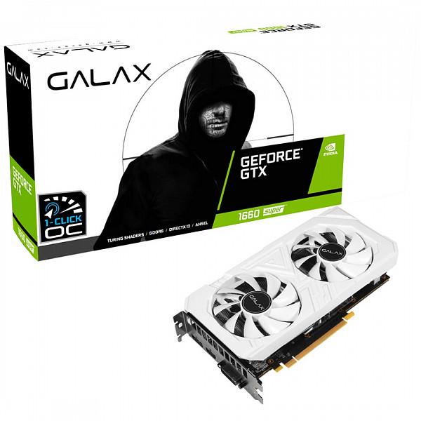 Placa de Vídeo Galax Geforce Gtx 1660 Super Ex White 1Click OC - 60SRL7DS04WS