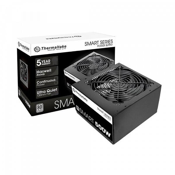 Fonte Thermaltake 500W 80 Plus White Smart Series - PS-SPD-0500NPCW