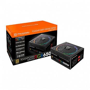 Fonte Thermaltake 650W Toughpower Grand Full Mod RGB 80 Gold - TPG-0650FPCGBZ-R