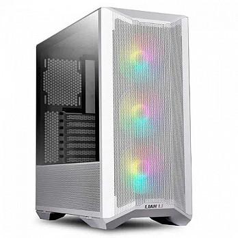 Gabinete Gamer Lian Li, Lancool II Mesh RGB, Mid Tower, Vidro Temperado, White, Sem Fonte, Com 3 Fans 120