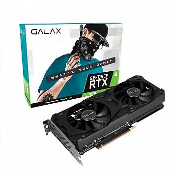 Placa de Vídeo GALAX GeForce RTX 3060 (1-Click OC) 12GB GDDR6 192Bits - 36NOL7MD1VOC - LHR