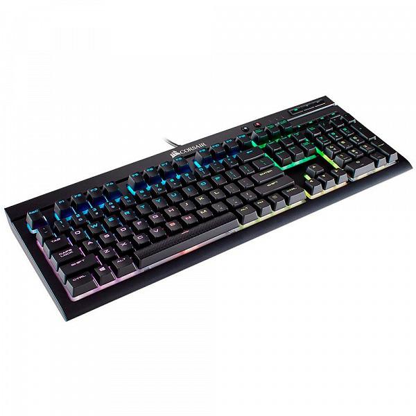 Teclado Mecânico Gamer Corsair K68, RGB, Switch Cherry MX Red, ABNT2 - CH-9102010-BR