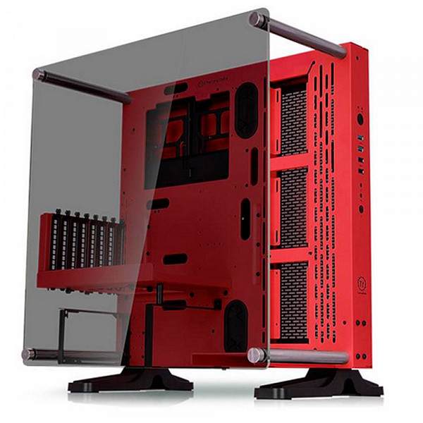 Gabinete Thermaltake Core P3 TG Red Wall Mount SGCC Riser Cbl - CA-1G4-00M3WN-03