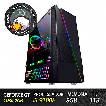 Computador Gamer Patoloco Crazy (Moba) i3 9100F, GT 1030 2GB, 8GB DDR4, HD 1TB
