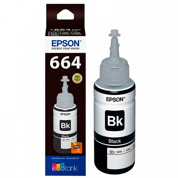 Refil de Tinta Epson Preto L120 L380 L395 L396 L575 L1300