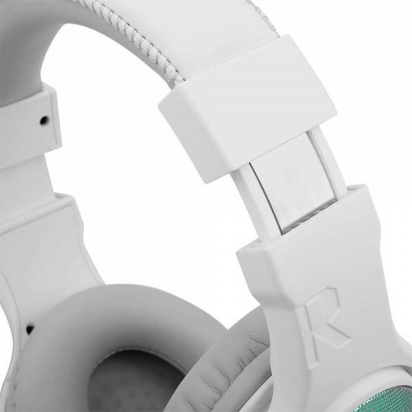 Headset Gamer Redragon Pandora 2 Lunar, RGB, USB + 3.5mm, Branco - H350RGB-1
